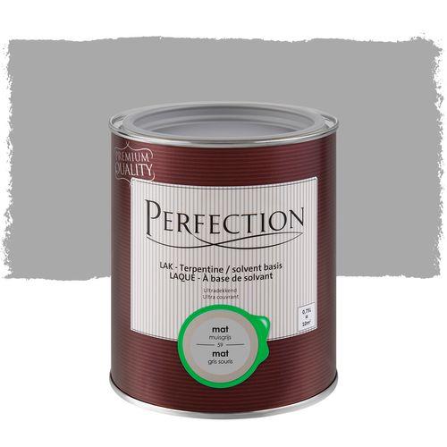 Laque Perfection Ultra couvrant mat solvant gris souris 750ml