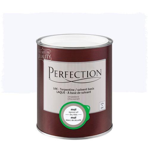 Perfection lak Ultradekkend mat terpentine signaal wit RAL 9003 750ml