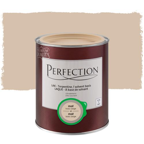 Perfection lak 'Superdekkend' basic beige mat 750ml