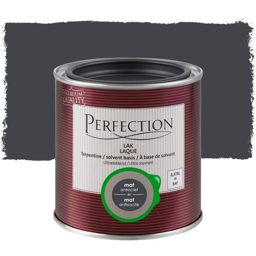 Laque Perfection Ultra couvrant mat solvant anthracite 375ml