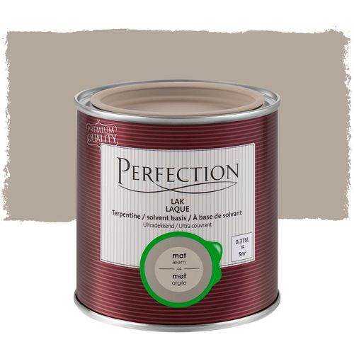 Laque Perfection Ultra couvrant mat solvant argile 375ml