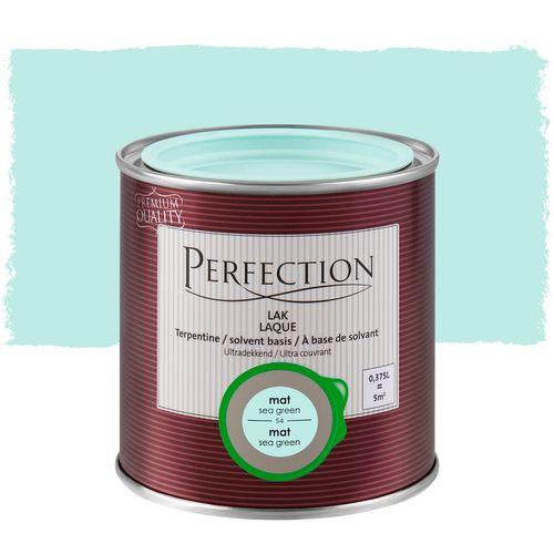 Laque Perfection Ultra couvrant mat solvant vert océan 375ml