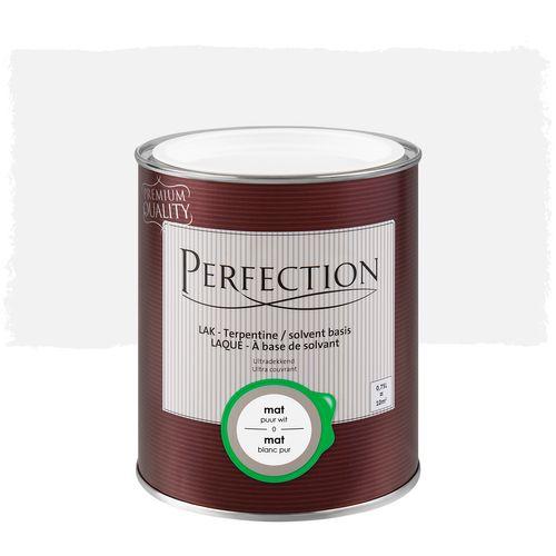 Laque Perfection Ultra couvrant mat solvant blanc pur 2,5L