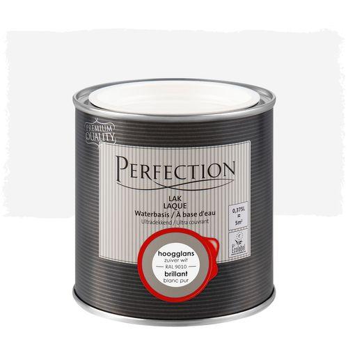 Perfection lak Ultradekkend hoogglans zuiver wit RAL 9010 375ml