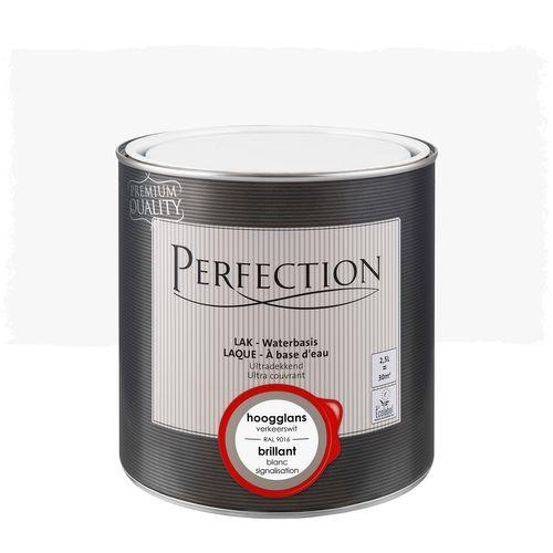 Perfection lak Ultradekkend hoogglans verkeerswit RAL 9016 2,5L