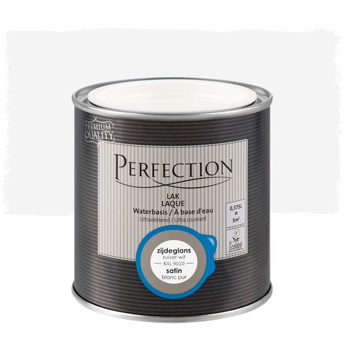 Laque Perfection utra couvrant satin blanc pur RAL 9010 375ml