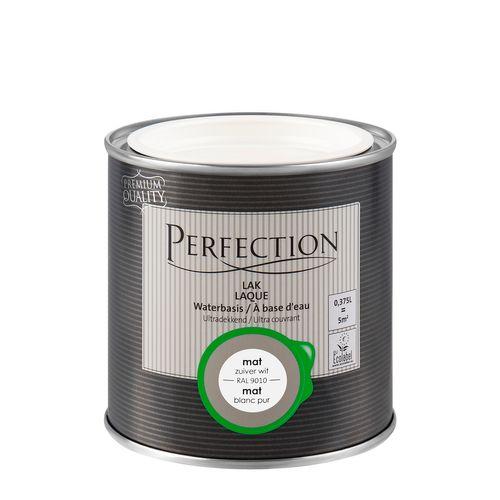 Perfection lak Ultradekkend mat zuiver wit RAL 9010 375ml