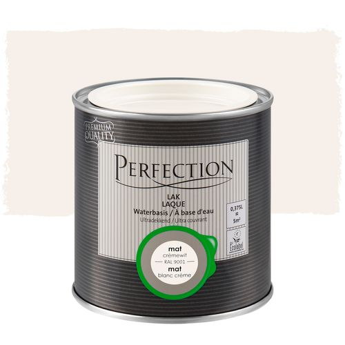 Laque Perfection utra couvrant mat blanc crème RAL 9001 375ml