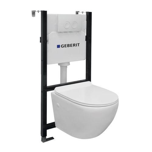 GO by Van Marcke inbouwreservoirpack met Geberit spoeltechniek 3/6L + spoelrandloze toiletpot + toiletzitting
