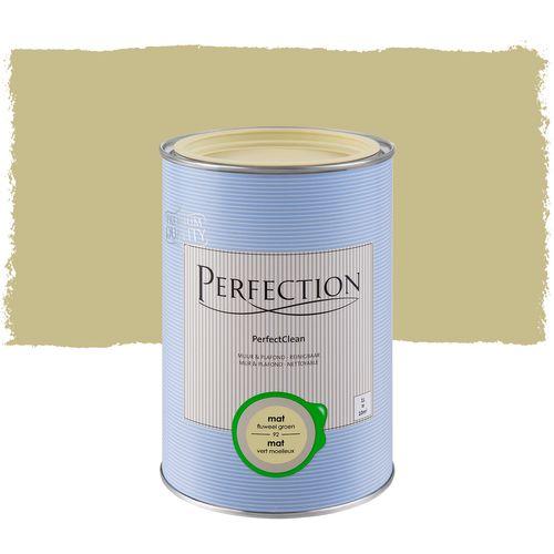 Perfection muurverf PerfectClean Muur & Plafond mat fluweel groen 1L