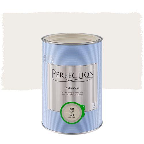 Perfection muurverf PerfectClean Muur & Plafond mat kleigrijs 1L