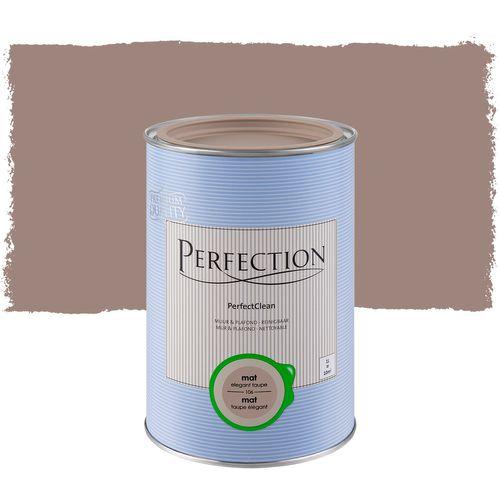 Perfection muurverf PerfectClean Muur & Plafond mat taupe 1L