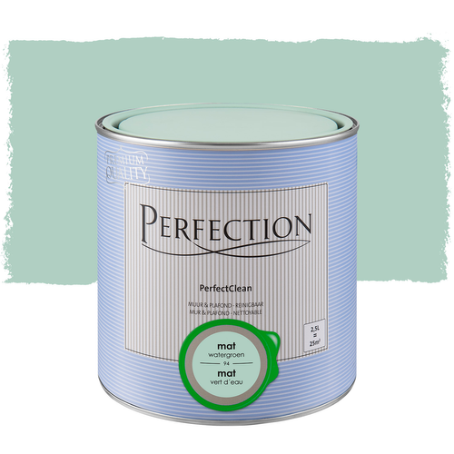 Peinture Perfection PerfectClean Mur & plafond mat vert d'eau 2,5L