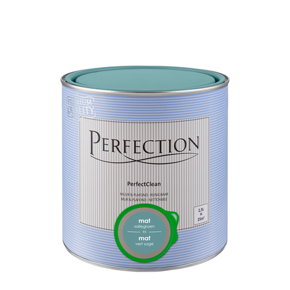 Peinture Perfection PerfectClean Mur & plafond mat vert sauge 2,5L