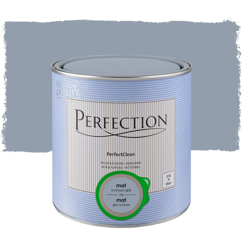 Peinture Perfection PerfectClean Mur & plafond mat gris océan 2,5L