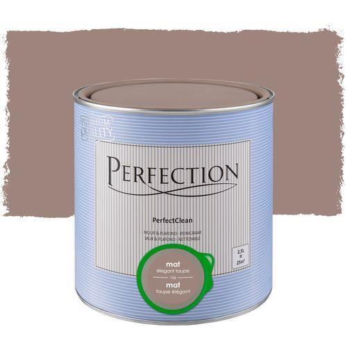 Peinture Perfection PerfectClean Mur & plafond mat taupe 2,5L