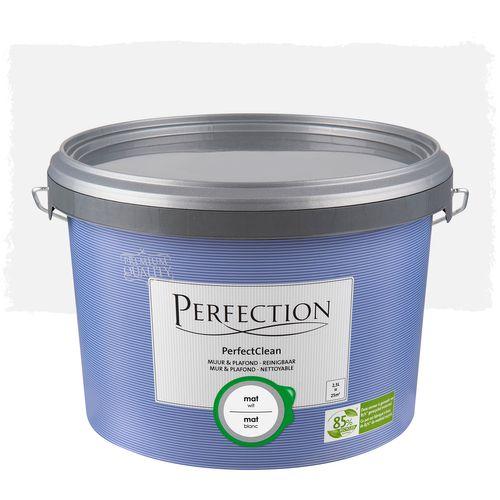 Perfection muurverf PerfectClean Muur & Plafond mat wit 2,5L