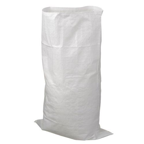 Bouwafvalzakken - PP geweven, wit, max. 50 kg, 60 l - H100 x Ø60 cm - 10 x
