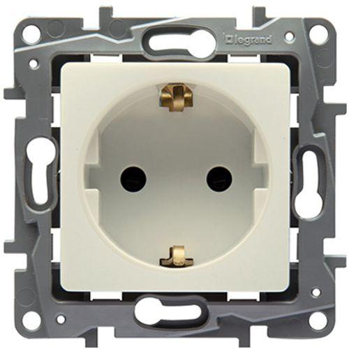 Legrand NILOÉ inbouw stopcontact RA 2 polig - crème