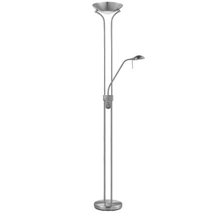 Home Sweet Home vloerlamp LED uplight 180 cm mat staal