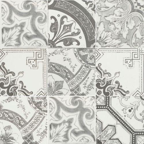 Wand- en vloertegel Nikea grijs mix 10x10cm