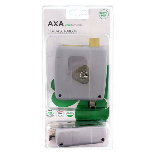 AXA oplegslot links zilver