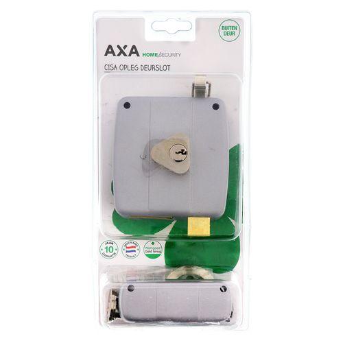 AXA oplegslot rechts zilver