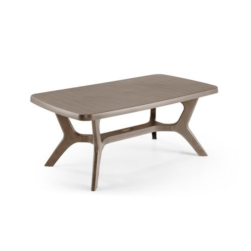 Table de jardin Allibert 'Baltimore' résine cappuccino 177 x 100 cm