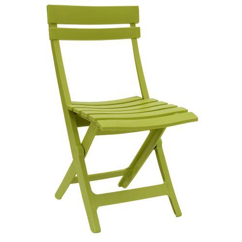 Chaise de jardin Grosfillex Miami pliable résine vert cactus