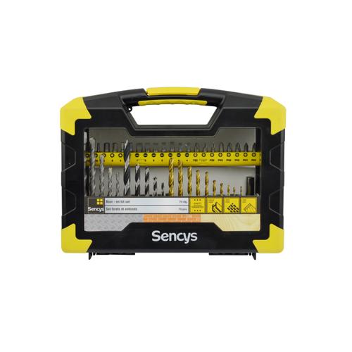 Sencys bit- en borenset – 70 stuks