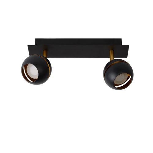 Lucide spot LED Binari zwart 2x5W