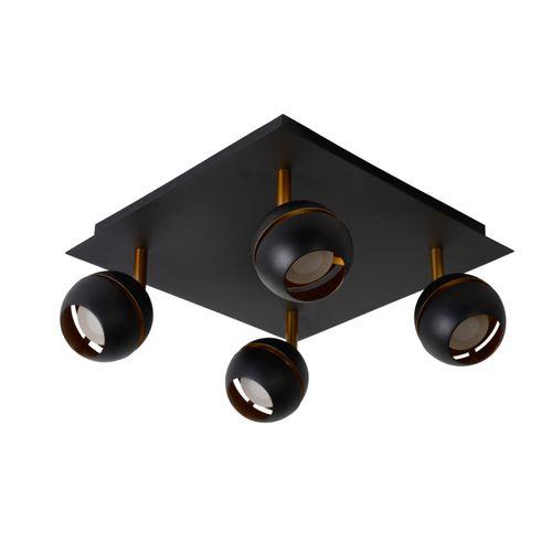 Lucide spot LED Binari zwart 4x5W
