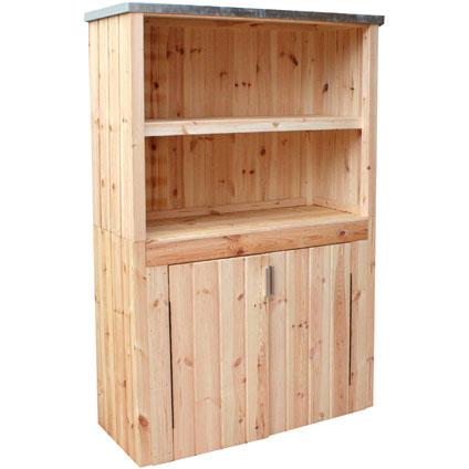 Armoire de jardin Forest Style 'Linea' bois 181 x 113 cm