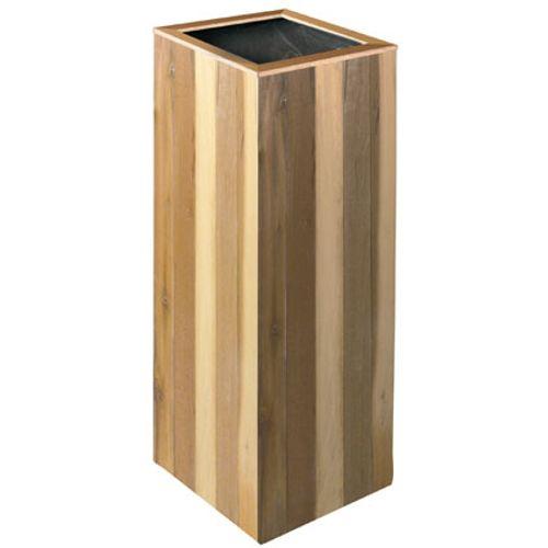 Bloembak 'Zuil' acacia hout bruin 30x30cm