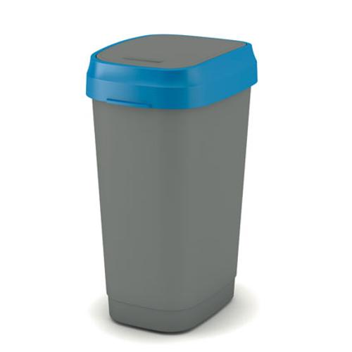 Kis vuilsnisbak 'Dual Swing Eco' blauw en grijs 50 L
