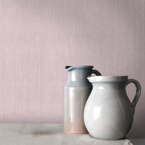 Vliesbehang uni roze 68635