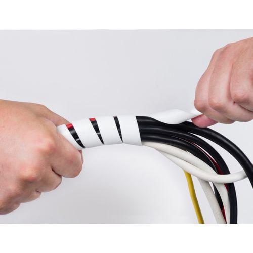 Spirale Chacon D-Line Ø10-40mmx2,5m blanc
