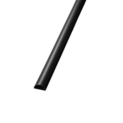 Goulotte auto-adhésive Chacon D-Line demi-cercle 30x15mm 2m noir