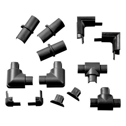Pack accessoires goulotte Chacon D-Line 16x08mm à clipser noir