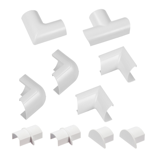 Chacon accessoirepakket voor kabelgoten D-Line 30x15mm kliksysteem wit