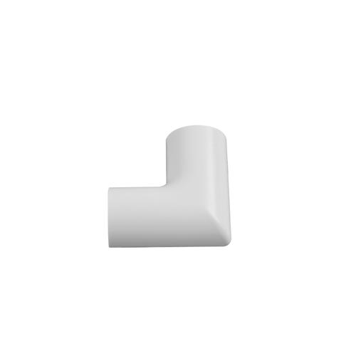 Chacon haakse hoeken voor kabelgoten D-Line 30x15mm opklikbaar wit - 2stk