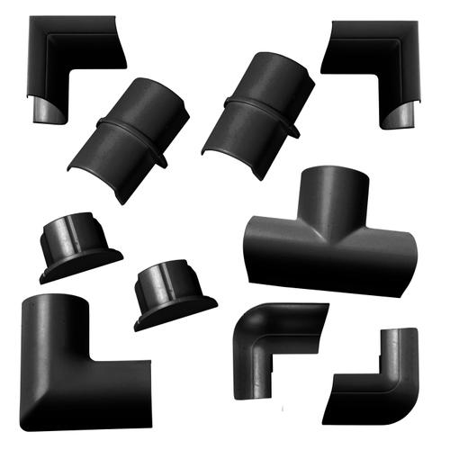 Chacon accessoirepakket voor kabelgoten D-Line 30x15mm kliksysteem zwart