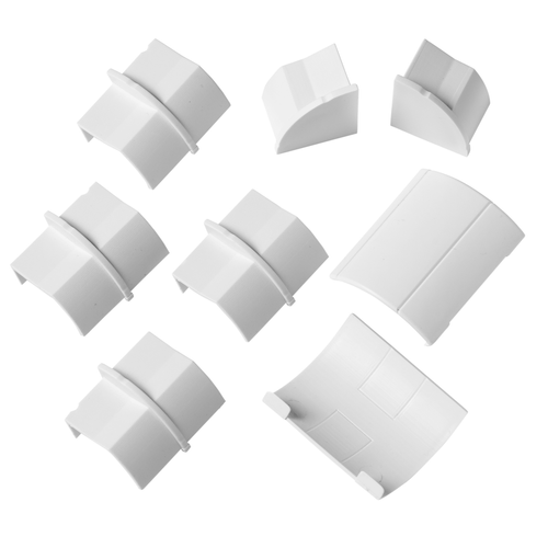 Chacon accessoirepakket voor kabelgoten D-Line 22x22mm kliksysteem wit