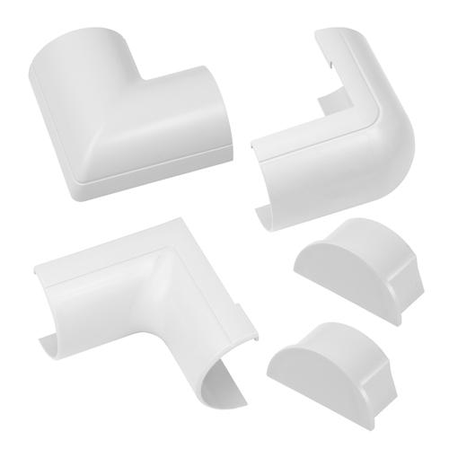 Chacon accessoirepakket voor kabelgoten D-Line 50x25mm kliksysteem wit