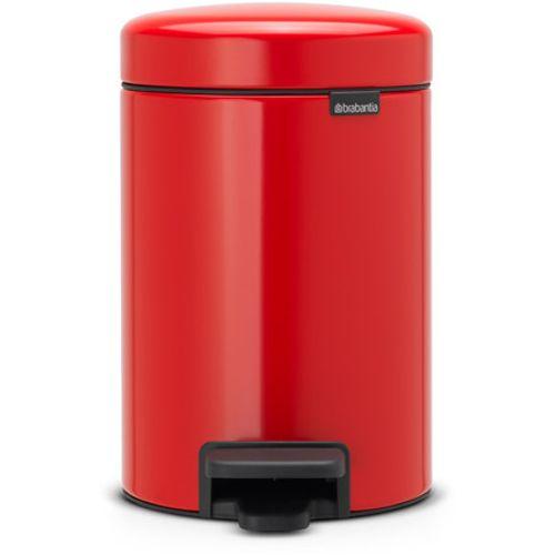 Poubelle à pédale Brabantia 'newIcon' passion red 3 L