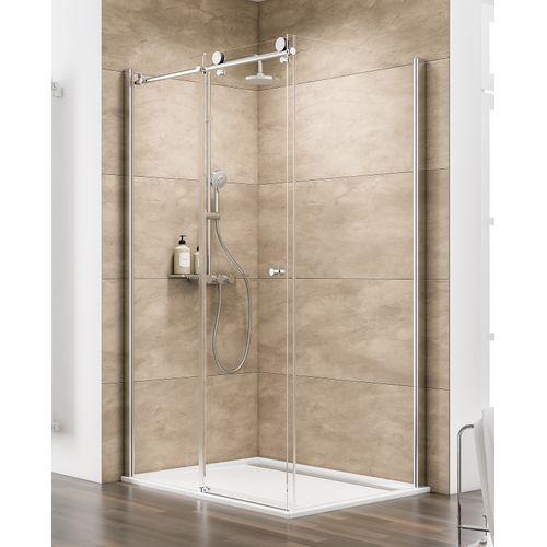 Porte de douche coulissante et paroi Schulte 'Masterclass' 140 x 90 cm