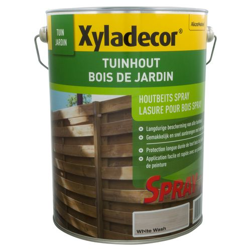Xyladecor houtbeits 'Tuinhout' white wash 5L