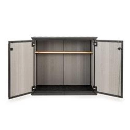 Armoire de rangement Keter Patio Store gris 139,5x120cm