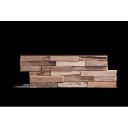 Plaquette de parement bois Klimex 'UltraWood Colorado' teck FSC 100% 0,09 m²