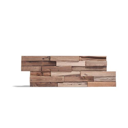 Plaquette de parement en bois Klimex UltraWood Colorado teck FSC 0,09m²